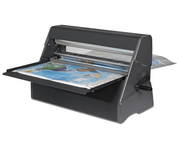 Laminate your posters for durability. Cold laminators require no warm up time.