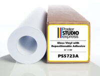 Gloss Vinyl with Repositionable Adhesive