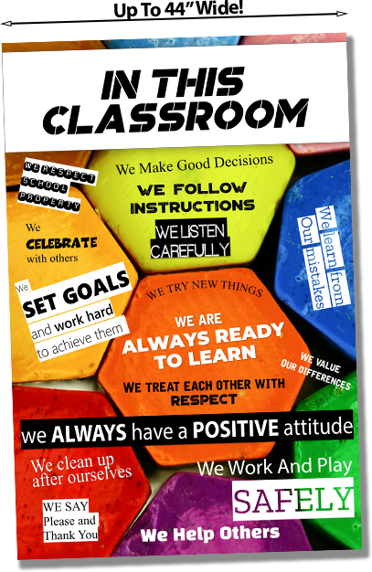 In this classroom school poster